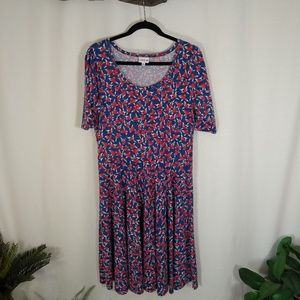 LULAROE Nicole bird print dress